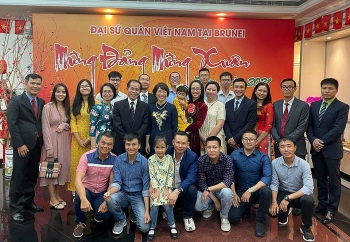 vietnamese embassy in brunei holds tet gatherings with ovs