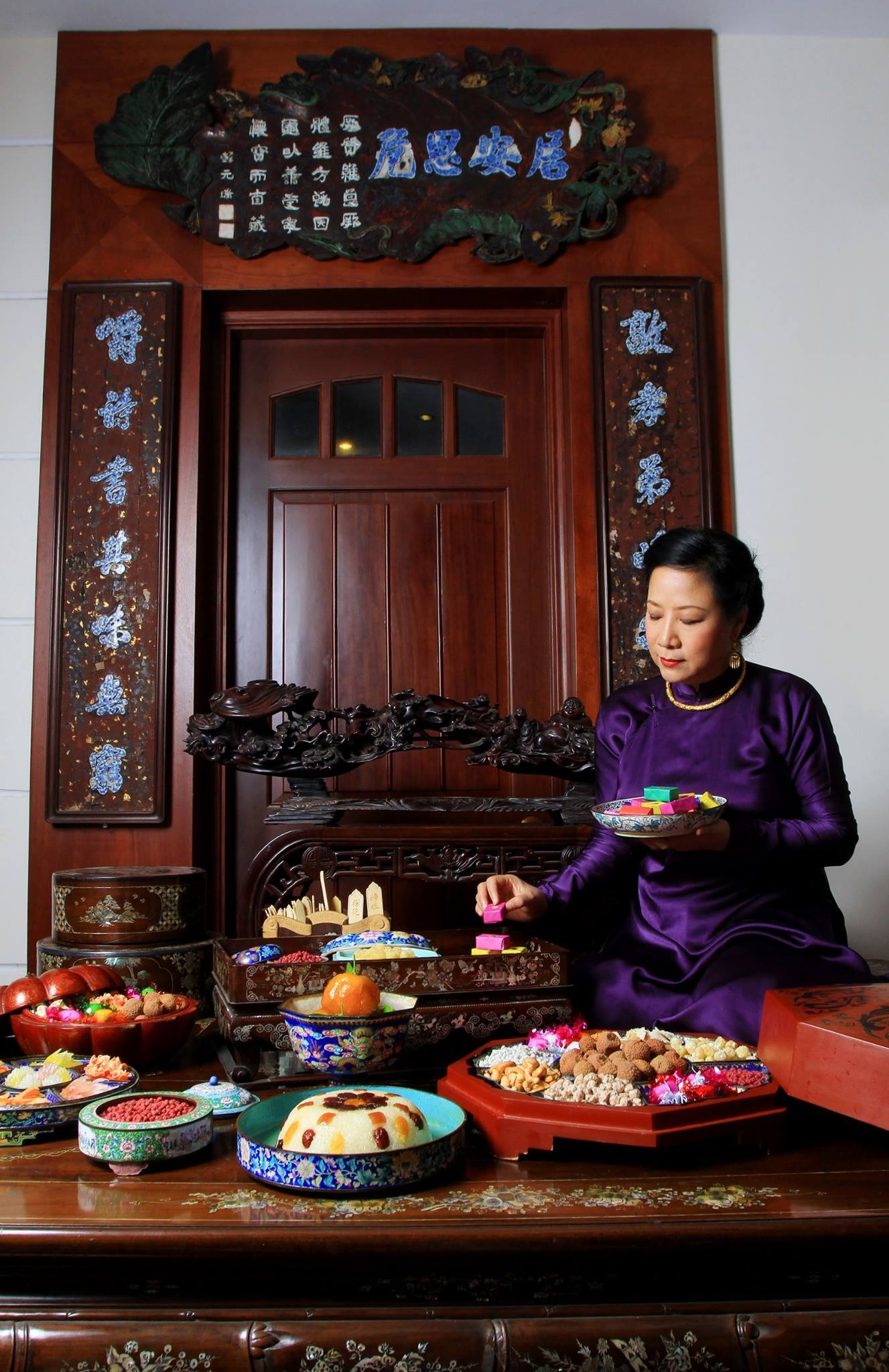 Exploring hue royal fruit preserves and cakes