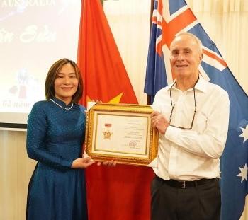 friendship medal presented to australian diplomat
