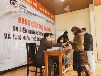 world vision helps flood hit residents in quang tri