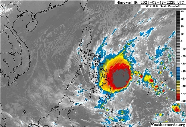 First storm of 2021 is forecast to enter East Sea in a few days