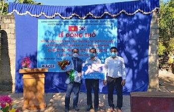 construction starts on vietnam rok friendship village in ninh thuan