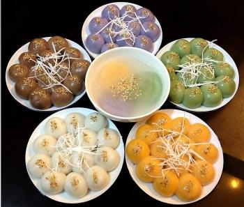 Recipe Banh Troi nuoc (Vietnamese glutinous rice ball) - Cold Food Festival sweet desserts