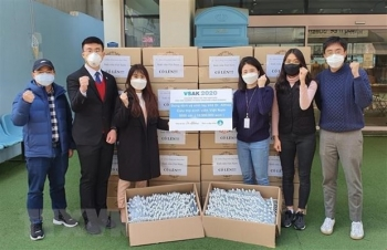 Vietnamese students in RoK support the fight against COVID-19