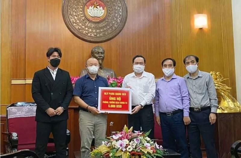 head coach park hang seo donates usd 5000 to covid 19 prevention fund