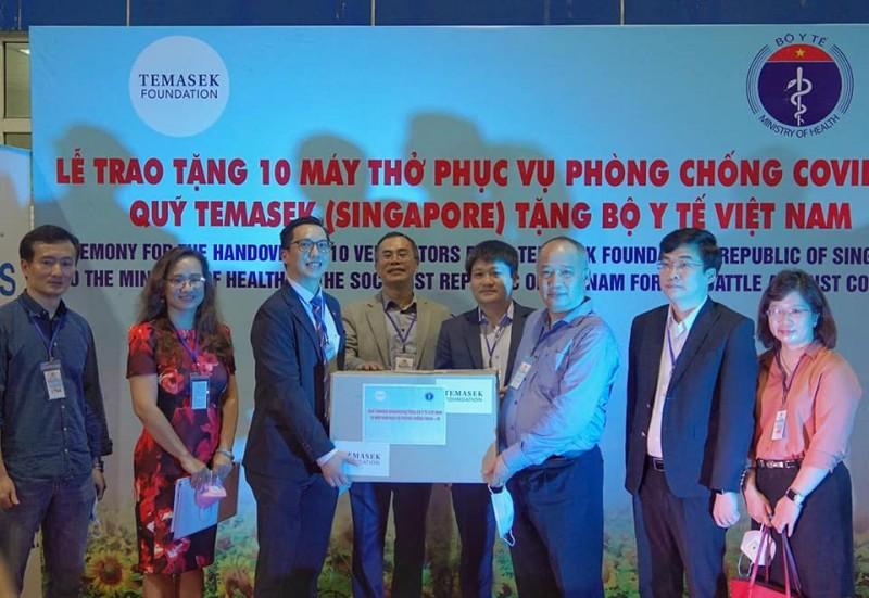 covid 19 singapores temasek foundation sent 10 ventilators to vietnam