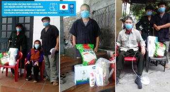 COVID-19 response emergency support for people with disabilities in Hai Duong province