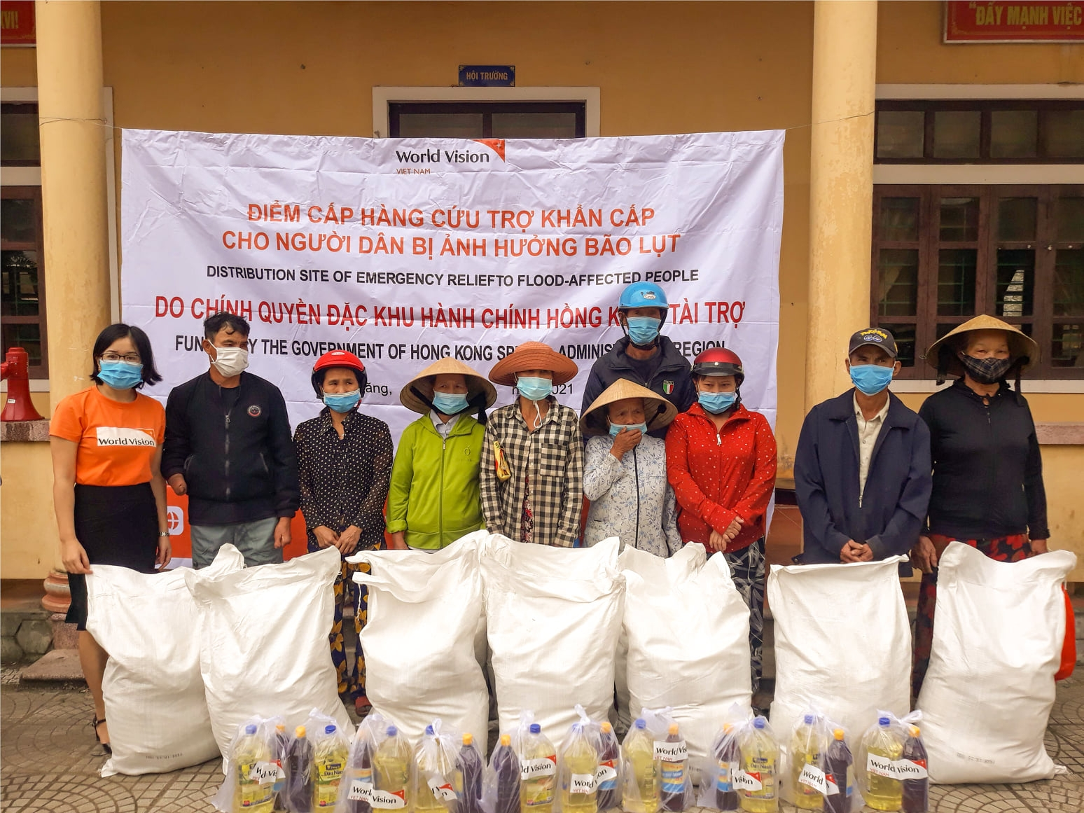 World Vision delivers flood relief for flood damaged central Vietnam