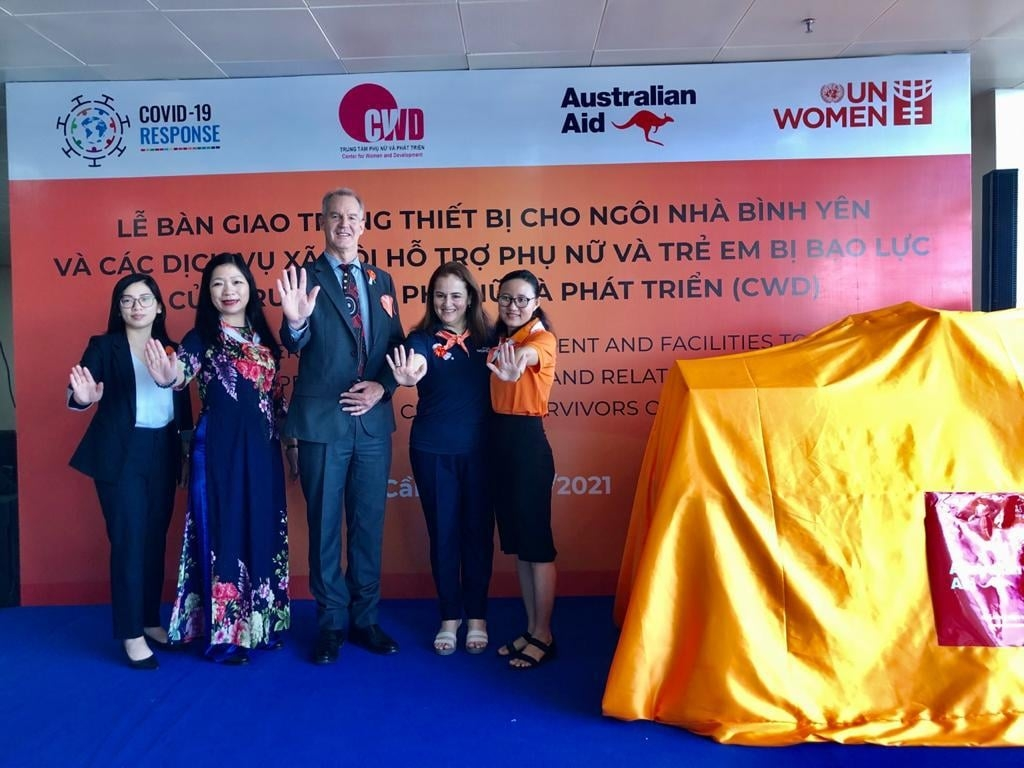 Essential equipment and facilities handed over to women's shelters