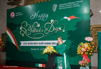 st patricks day hosted first time in quang tri