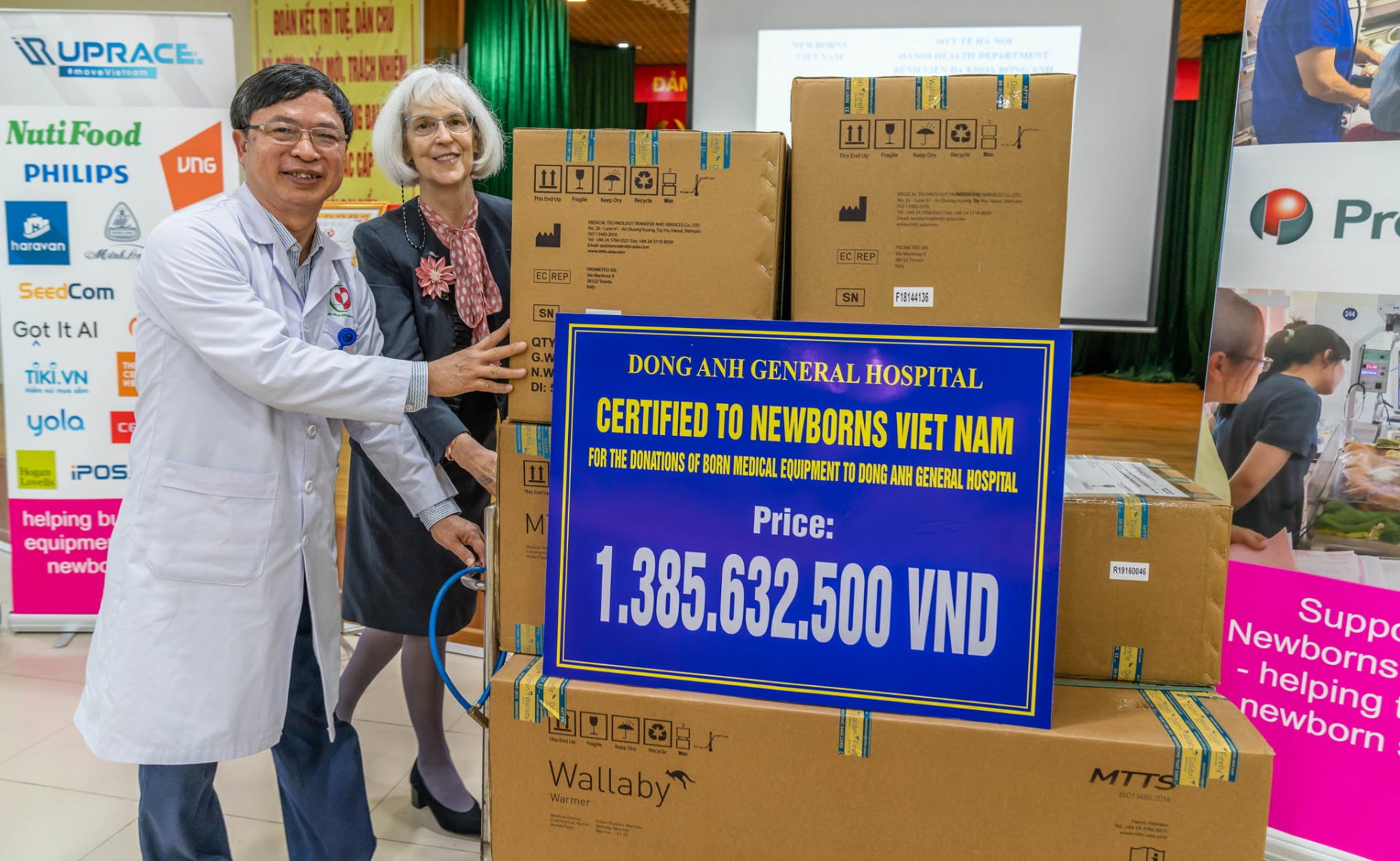 Hospitals received medical equipment sponsored by Newborns Vietnam