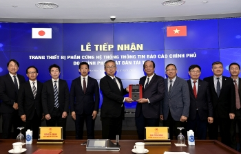 japan hands over equipment for vietnams government information reporting system