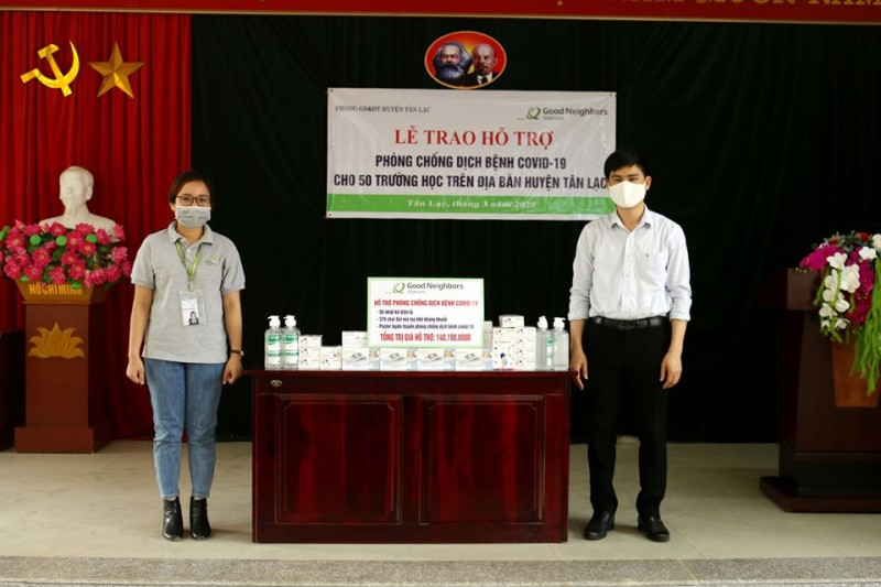 korean ngo supports over 5925 usd to hoa binhs covid 19 fight