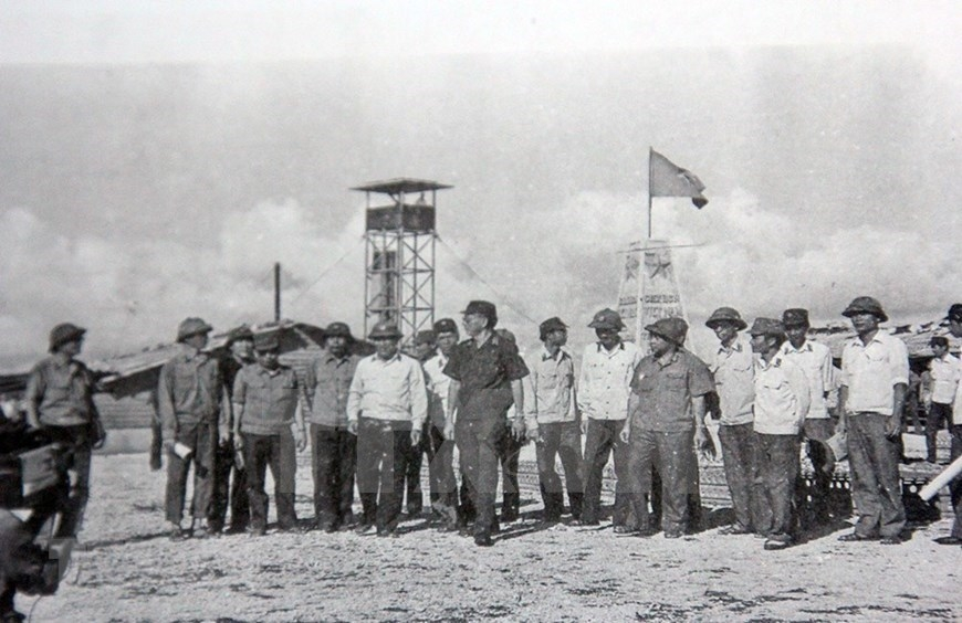 in photo liberation of truong sa archipelago