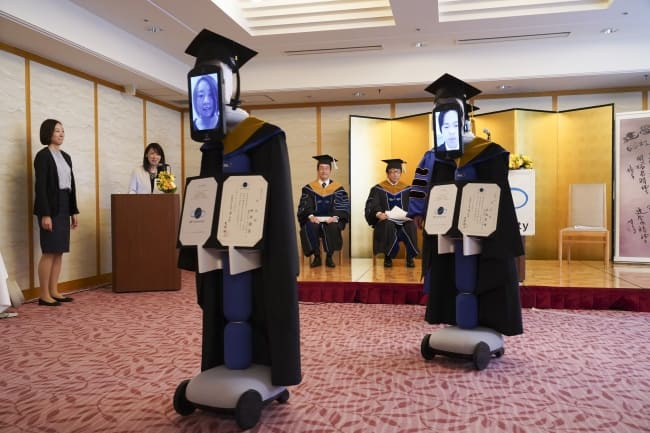 robots replace japanese students for graduation amid covid 19 crisis
