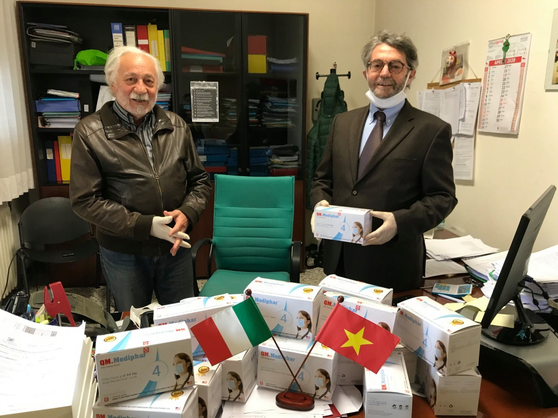 covid 19 fight second cargo of face masks from vietnam arrived in italy