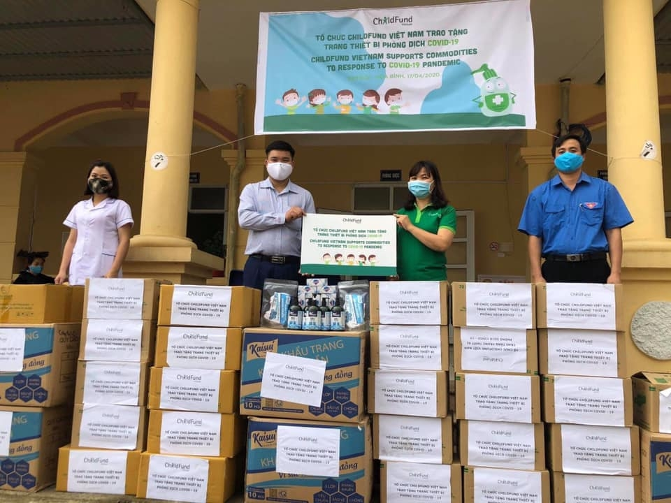 childfund assists covid 19 prevention in hoa binh