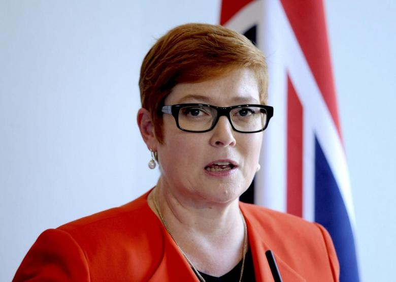 australian foreign minister condemns chinas actions in east sea
