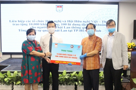HUFO presents 10,000 face masks to Thai people
