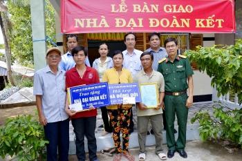 kufo hands over new houses for poor khmer households in kien giang