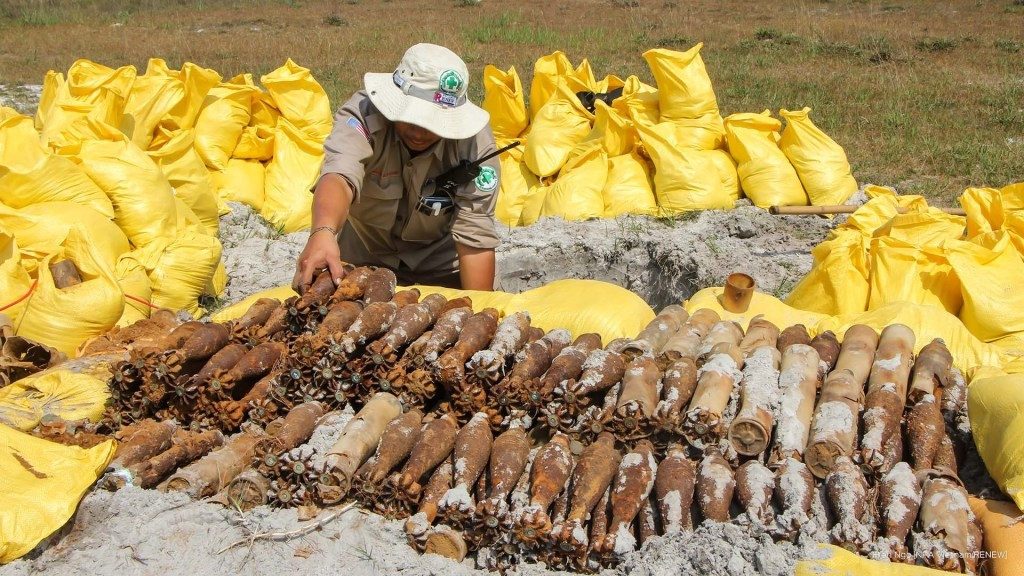 A large number of UXO found in Quang Tri