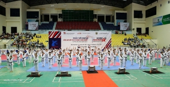 Over 800 Taekwondo artists compete in Korean Ambassador Cup