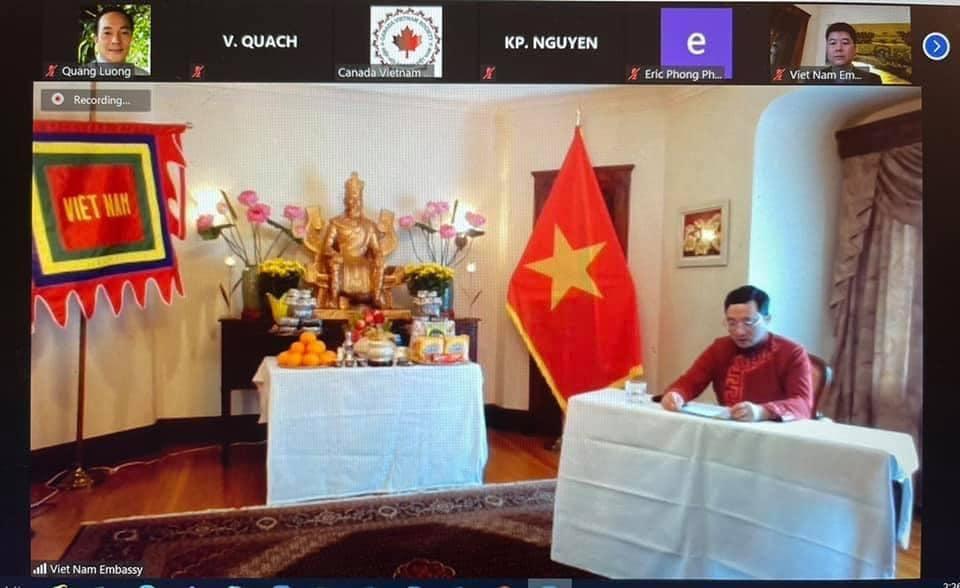 Online worship ceremony held in Canada to commemorate legendary ancestors of Vietnam