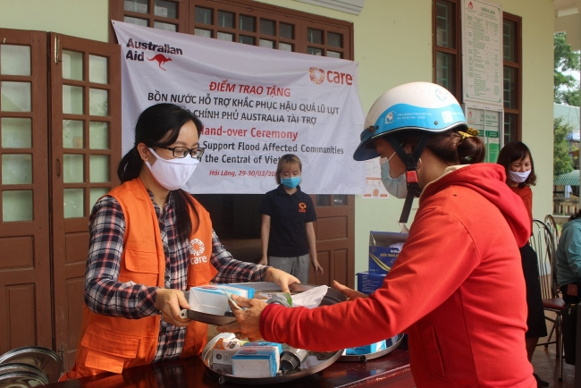 CARE, Australia donation will help flood-affected communities in Quang Tri