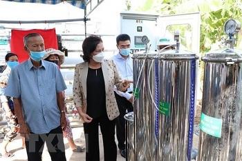 24 ro water purifiers installed in 35 water plants in ben tre