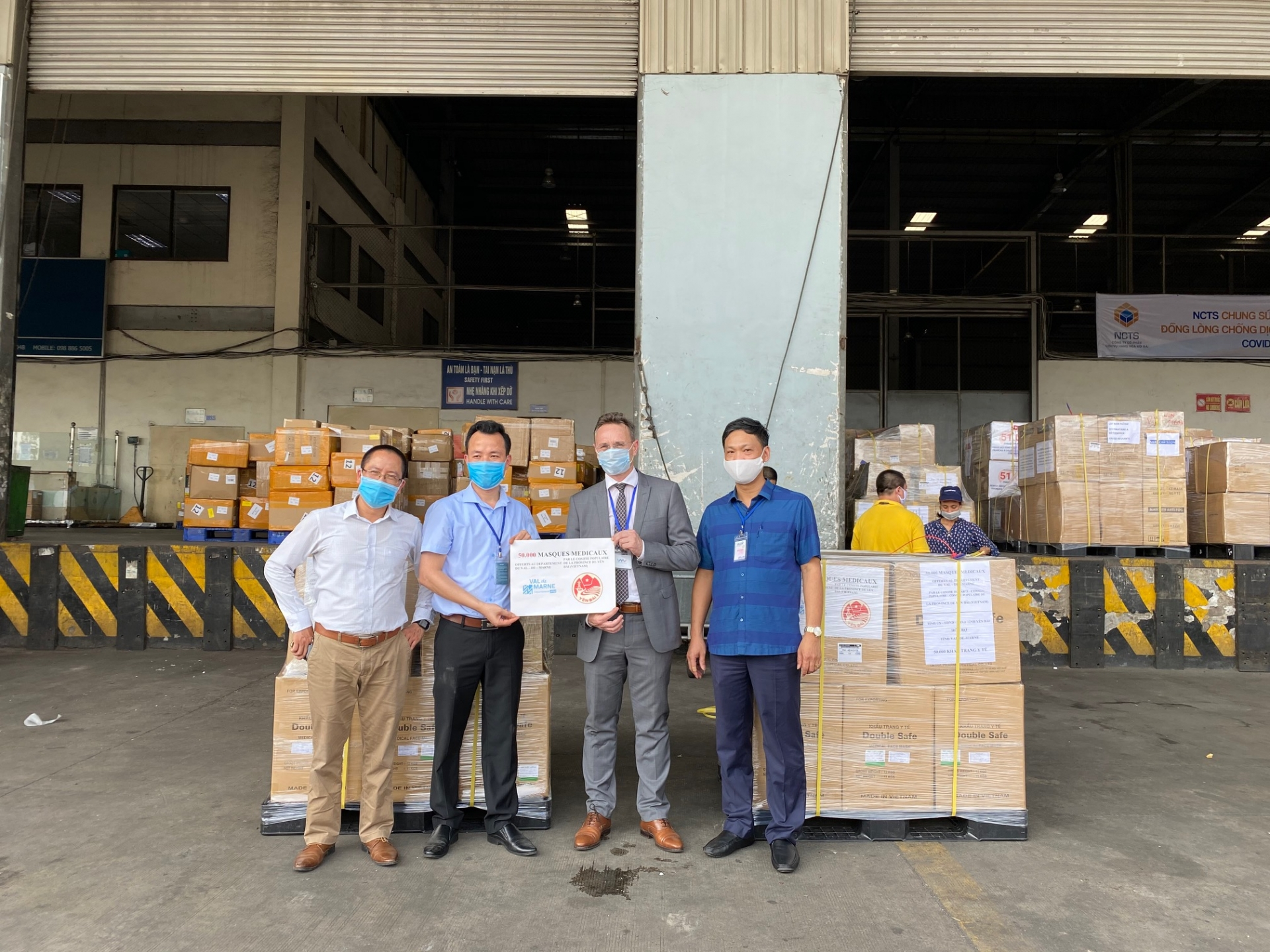 covid 19 fight over 260000 masks from vietnam transported to france