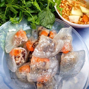 summer snack vietnamese transparent shrimp pork dumplings