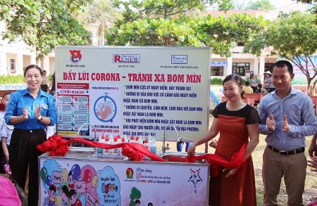 project renew to install 40 wash basins in quang tri and quang ngai