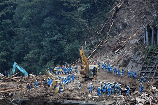 Funeral service held in Japan's prefecture for two Vietnamese victims in landslide