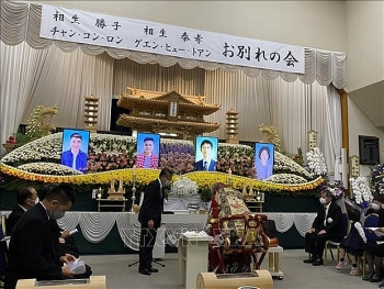 Funeral held in Japan's prefecture for two Vietnamese victims in landslide