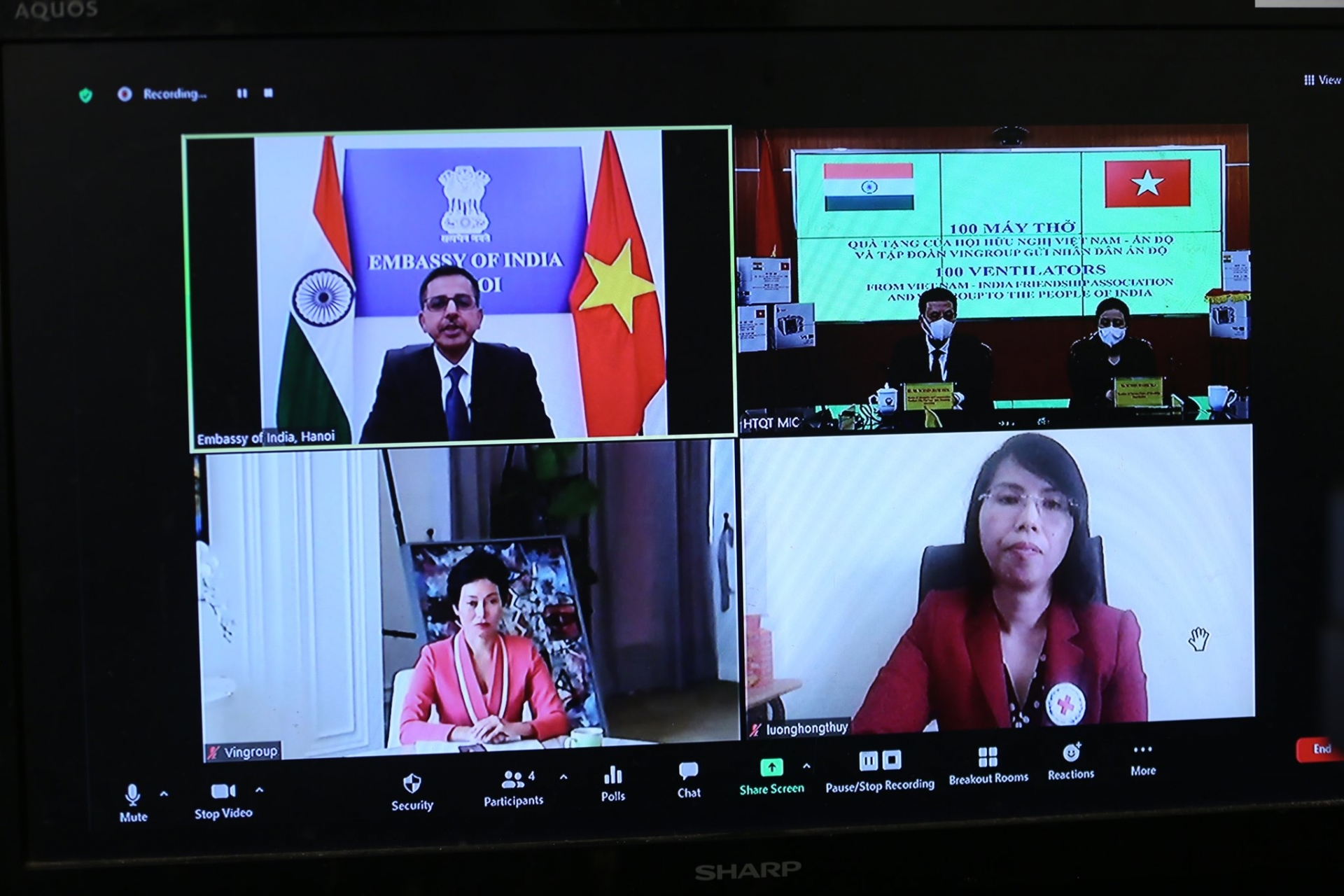 Friendship Association gives people of India 100 ventilators