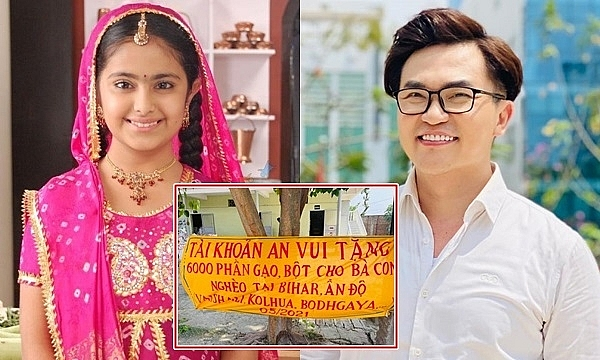Indian actress thanks Vietnam's host for his fundraising for India's fight against Covid-19