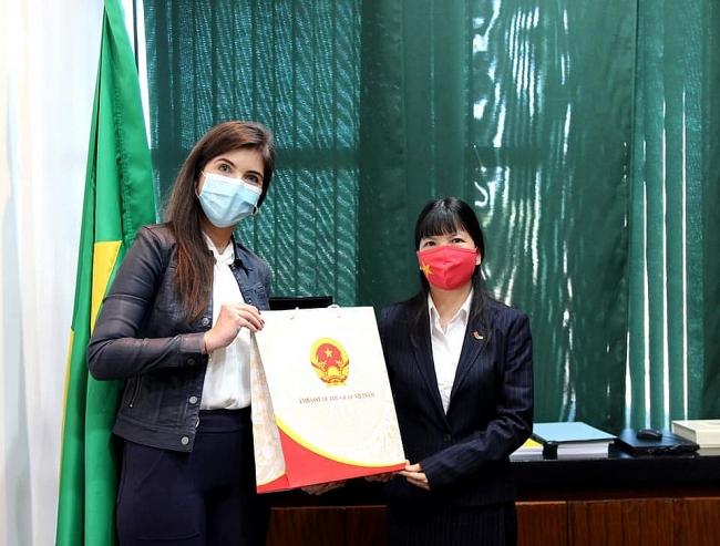 Vietnam Embassy presents 10,000 face masks to Brazilian Chamber of Deputies
