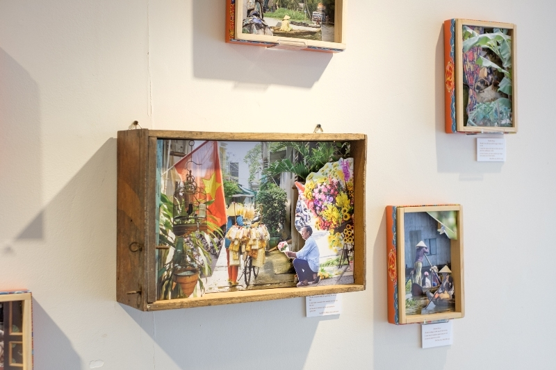 Special boxes showcasing Vietnamese landscape and local people