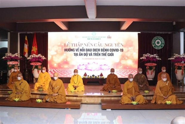 HCM City's monks, Buddhist followers raise VND 1 billion for Covid-19-hit Indian