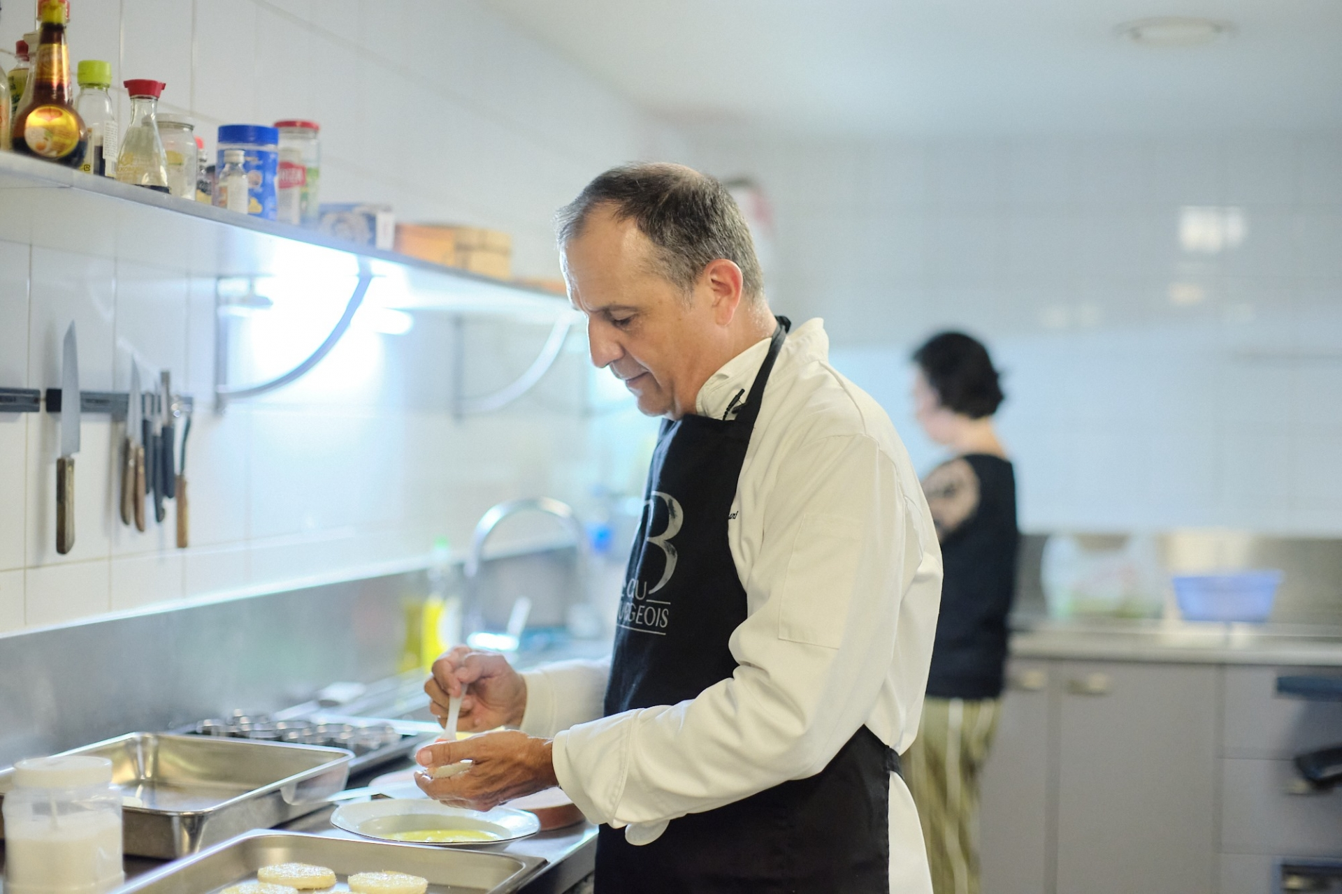 Diplomats cooking for charity activities