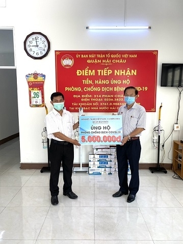 Chapter of Da Nang's Vietnam - Cambodia Friendship Association supports Covid-19 fight