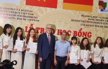 more than 90 outstanding students in hanoi receive hessen scholarships