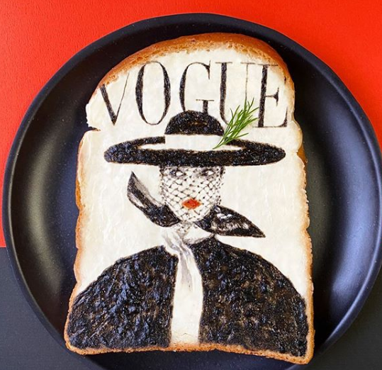 japanese artist makes her creations on plain bread using edible ingredients