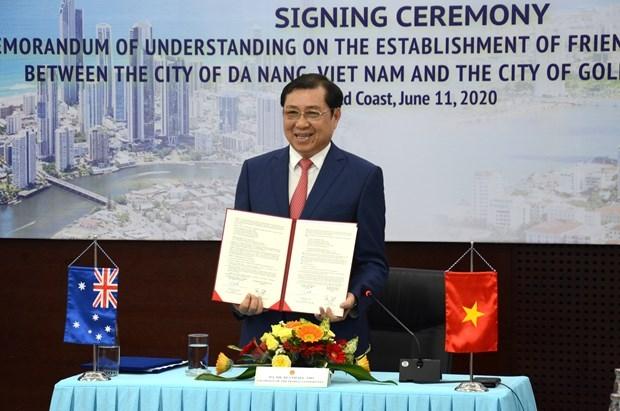 da nang australias coastal city sign mou to step up bilateral cooperation