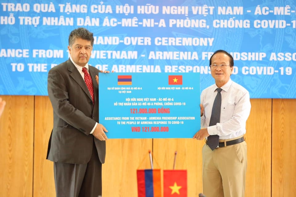Friendship association shows solidarity with Armenian friends in combating COVID-19