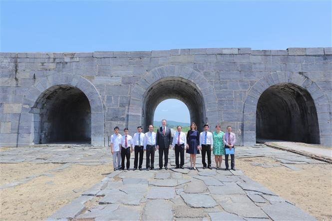 us funded renovation of unesco recognised ho dynasty citadel gate completed