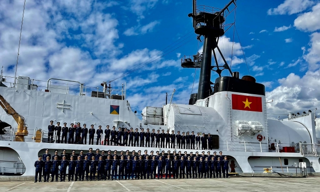 CSB 8021 Patrol Vessel about to depart from US to Vietnam