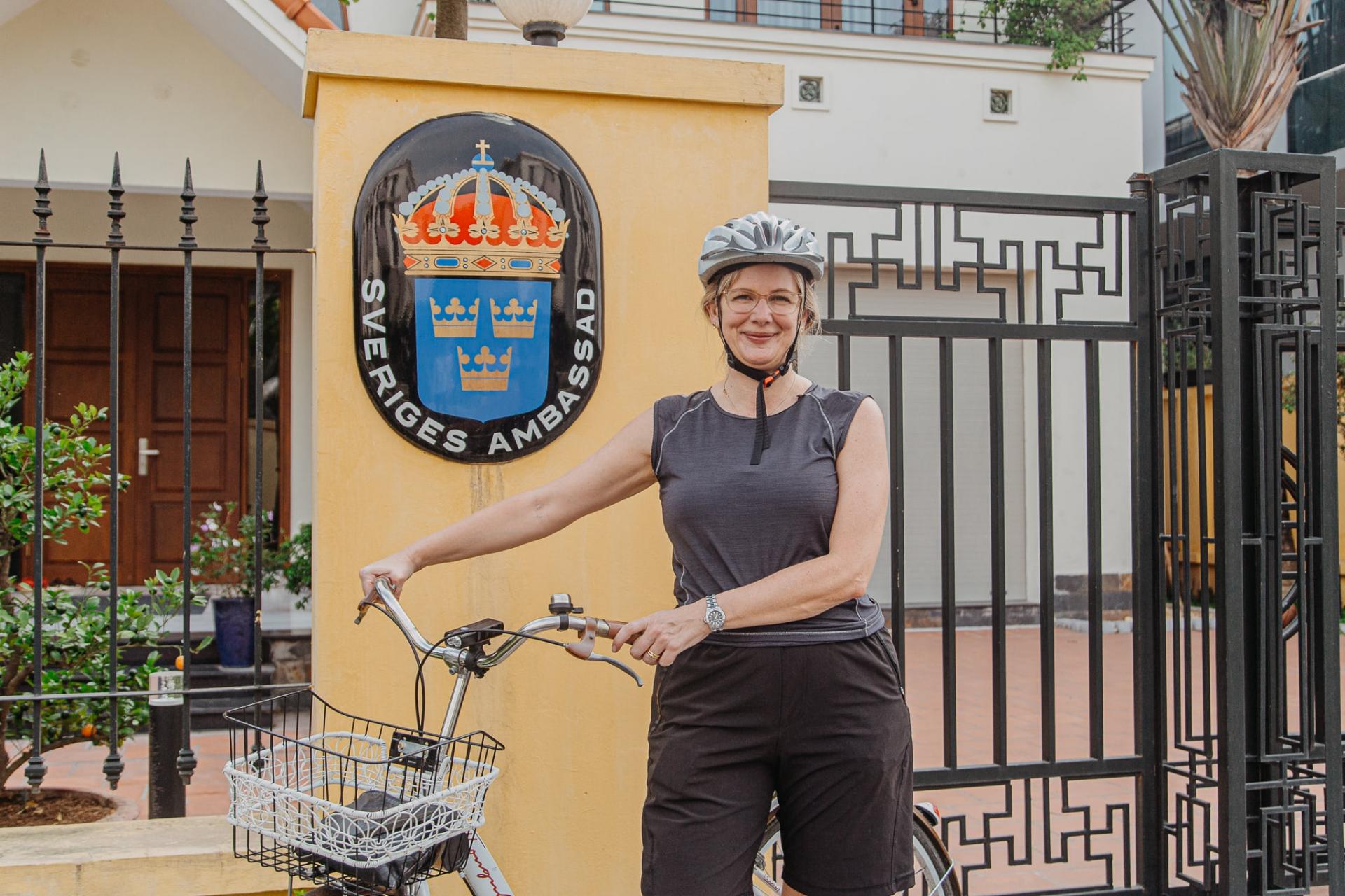Ambassadors cycle on World Bicycle Day