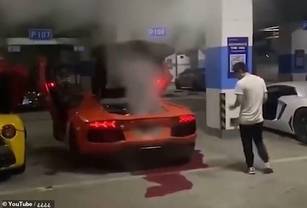 USD 400,000 Lamborghini goes up in smoke after owner try to barbecue meat