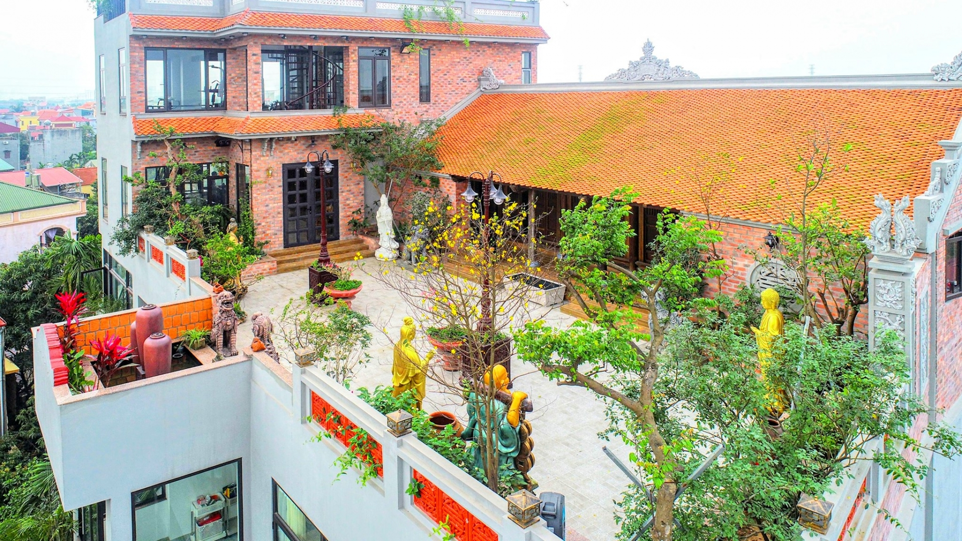 100-year-old house on the roof of a villa in Hanoi